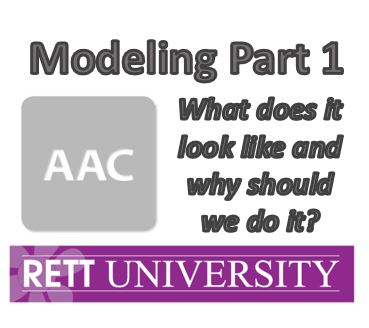 Modeling Part 1- What does it look like and why should we do it?- Recorded Webinar